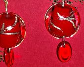 Red Lampwork Bead Earrings Bead Earrings, Lampwork Beads, Trending Outfits, Unique Jewelry, Handmade Gifts, Red, Etsy, Kid Craft Gifts, Pearl Earrings