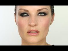 Smokey makeup for hooded eyes - Pixiwoo. Another favorite channel of mine - notice how she mentions Jennifer Lawrence wears this look - J. Lawrence also has hooded eyes. It's beautiful!