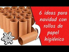 Christmas Crafts, Christmas Ornaments, Toilet Paper Roll, Youtube, Diy Crafts, Ideas, Life, Ideas For Christmas, Toilet Paper