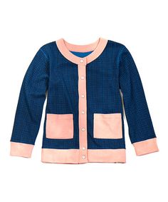 Love this Blue & Pink Camilla Organic Cardigan - Toddler & Girls by Soft Clothing on #zulily! #zulilyfinds
