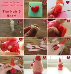 Needle Felting Tutorial : Valentine's Day Gnome : DIY - The Magic Onions