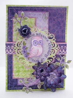 Cuteness Overload with Sugar Hollow and Heartfelt Creations - Created by Lori Williams of Pinkcloud Scrappers #heartfeltcreations #sugarhollow #owls #handmadeflowers #loriwilliams #pinkcloudscrappers