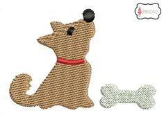 Mini dog embroidery design.