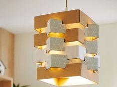 Diy Luminaire, Carton Design, Everyday Hacks, Paper Light, Wood Lamps, Light Fittings, Lampshades, Leroy Merlin, Biba Magazine
