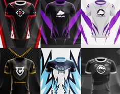 Jersey designs from This is the accumulative of most of my work on jersey's since early E Sport, Sport T Shirt, Cricket Uniform, Jersey Designs, Shirt Template, Textiles, Racing Stripes, Call Of Duty, Minecraft