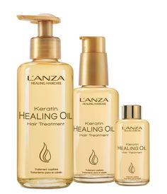 L'ANZA Keratin Healing Oil Hair Treatment builds body & strength with concentrated healing. It replenishes optimal moisture while restoring elasticity & shine, and is free of sulfates, parabens, gluten and sodium chloride.