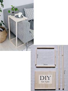 mesa de apoio para sofá fácil de fazer faça vc mesmo Diy Bedroom Decor, Diy Home Decor, Mesa Sofa, Diy Rocket, Deco Studio, Diy Crafts To Do, Rental Decorating, Decorating Ideas, Diy Organization