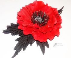 Red poppy hairpiece Poppy hair clip Red poppy brooch Poppy hair accessory Poppy headband bright red poppies Red poppy girls Poppy Boho