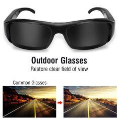 1080P HD Mini Night Vision Eyewear DVR Video Recorder Sunglasses Camera Glasses   Wish Wifi Spy Camera, Hidden Spy Camera, Mac Os 10, Blacked Videos, Windows Me, Night Vision