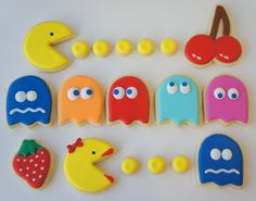 Pac-Man Sugar Cookies #desserts #gaming #food