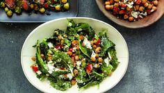 Fried chickpea salad