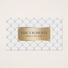 #makeupartist #businesscards - #Makeup Artist Hair Stylist Gold Label Luxury Business Card