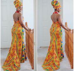 Ankara african print dress
