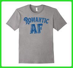 Mens Funny Retro Romantic AF Shirt finish Small Slate - Retro shirts (*Amazon Partner-Link)