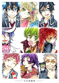 Tags: Anime, Ao no Exorcist, Okumura Rin, Okumura Yukio, Kamiki Izumo, Amaimon, Mephisto Pheles