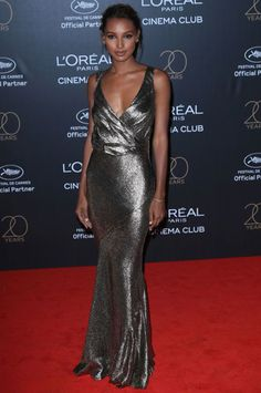 Jasmine Tookes attends the Gala Birthday Of L'Oreal In Cannes during the annual Cannes Film Festival at Hotel Martinez on May 24 2017 in. Jasmine Tookes, Celebrity Dresses, Celebrity Style, Together Fashion, Nice Dresses, Formal Dresses, Ball Dresses, Formal Wear, Fashion Models