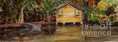 Cabin in the Woods   Watercolour on Paper  For Sale unframed  By Artist Sharon Wood  swoody@internode.on.net