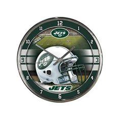 New York Jets NFL Chrome Round Clock