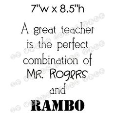 Perfect Quote for your Favorite TEACHER, vinyl wall art. $10.00, via Etsy.