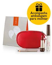Presente Natura Aquarela - Minilápis para Olhos + Batom + Top Coat + Nécessaire…