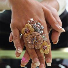 Look at the #ring! @ldezen Waou! #luxeintelligence #paris #amazing  stones #diamonds #rosecut #L'Dzen #designer #jewels #instajewels #jotd #fwis #highjewelry #hautejoaillerie #diamants #rubis #sapphires #joias #joyas #fashionjewels #hongkong designer #fashionblog #jewelryblog #likeab #paris happy to met you!