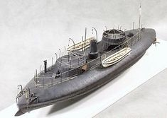 This is the Scale USS Keokuk Union Ironclad Warship Resin Model Kit from Cottage Industry Models. Model Ship Kits, Model Ships, Steampunk Ship, Wooden Model Boats, Plywood Boat Plans, Man Of War, Naval History, Navy Ships, Submarines