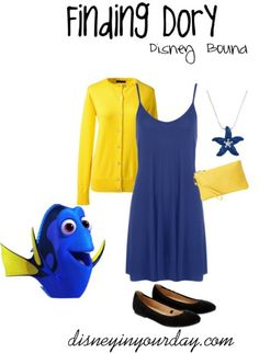 Findind Dory - a Dory inspired outfit perfect for Finding Nemo or Finding Dory!