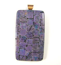 Polymer Clay Pendant  Fabulous Faux Collection  by DivaDesignsInc
