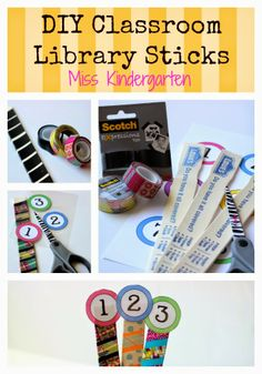 DIY Classroom Library Sticks