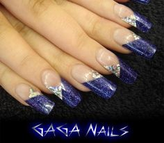 GAGA Nails by Laura Denton using Inverted Moulds: Inverted Moulds available from www.easynail.co.uk acrylics from www.thenailartist.co.uk