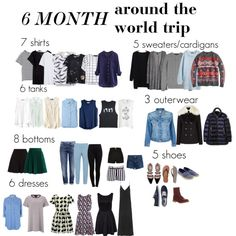 6 Months Around the World (Or year-round capsule) by julez22 on Polyvore featuring polyvore, moda, style, The Fifth Label, Topshop, Miss Selfridge, J.Crew, Ralph Lauren Black Label, American Eagle Outfitters and H&M
