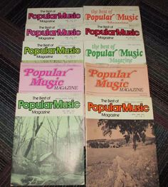 LOT OF 10 THE BEST OF POPULAR MUSIC MAGAZINE 1974-1979, ORGAN, VOCAL, GUITAR,GUC