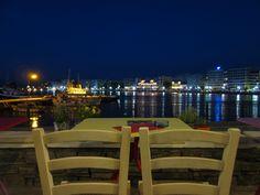 π all day cafe tit-bit bar, view at Evian gulf, Chalkis, Greece.