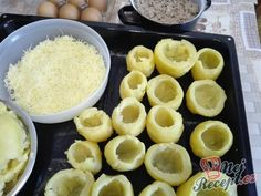 Luxusní plněné brambory | NejRecept.cz Cantaloupe, Macaroni And Cheese, Pork, Food And Drink, Cooking Recipes, Beef, Treats, Fruit, Ethnic Recipes