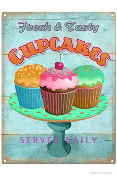 Another vintage cupcake sign! How cute is this!!
