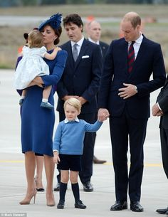 Prince George, three, has already notched up a royal tour to Australia and New Zealand but it is 16-month-old Charlotte's inaugural foreign visit and all eyes will be on the adorable toddler