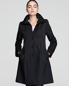 DKNY Empire Waist Hooded Coat   Bloomingdale's