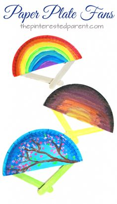 Paper plate fans for the spring and summer. These hand fans are a simple arts an… Paper plate fans for the spring and summer. These hand fans are a simple arts and craft project that is perfect for toddlers, preschoolers and kids of all ages. Summer Arts And Crafts, Easy Arts And Crafts, Summer Crafts For Kids, Arts And Crafts Projects, Summer Kids, Fun Crafts, Spring Summer, Summer Crafts For Preschoolers, Simple Art And Craft
