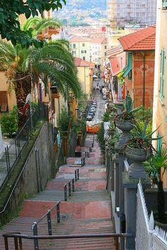 Stairway, La Spezia , Liguria, Italy