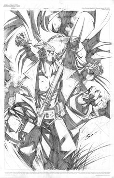 HELLBOY AND BATMAN - Pencils: Gerardo Sandoval