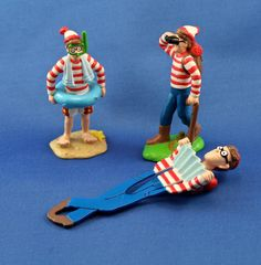"""1990 Applause Where's Waldo 3.5"""" Figurines by SmilingMemories on Etsy"""