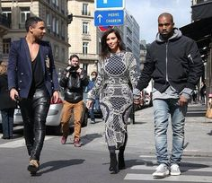 Kim & Kanye in PARIS with Oliver Rousteing