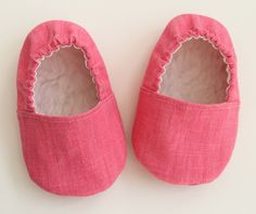Hot Pink Baby Shoes Girl Loafer with Sherpa Insole. by GardenAlley, $23.00