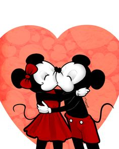 """In Roman mythology, Cupid (Latin meaning, """"desire"""") is the god of desire, affection and erotic love. The photo of mickey and minnie mouse reflects on how Cupid shows this affection and love throughout the Ovid. Mickey And Minnie Kissing, Mickey Mouse And Friends, Mickey Minnie Mouse, Disney Mickey, Walt Disney, Disney Kiss, Disney Couples, Disney Magic, Disney Art"""