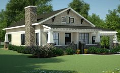 House Plan 7806-00013 - Bungalow Plan: 1,378 Square Feet, 3 Bedrooms, 2 Bathrooms