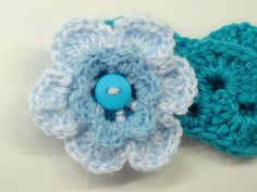 Crochet Headband with flower for girlsTurquoise by ToppyToppyKnits, $15.00