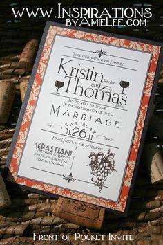 Vino Wedding invitations