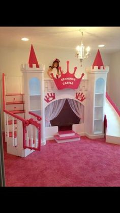 NEW DIAMOND'S CUSTOM PRINCESS CASTLE LOFT/BUNK/PLAYHOUSE BED #CAROLINADREAMSCUSTOMDESIGNS by lelia