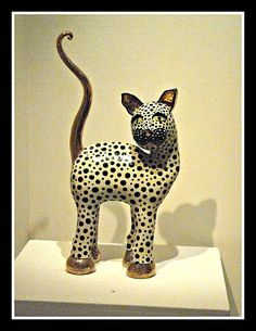 ceramic cat by Ann Marie Robinson