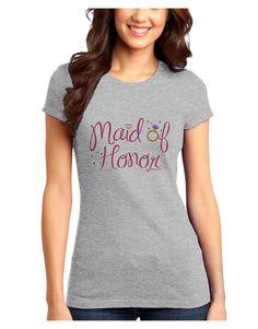 TooLoud Maid of Honor - Diamond Ring Design - Color Juniors T-Shirt